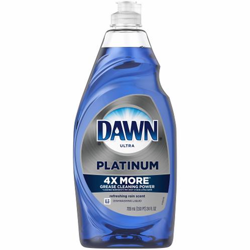 DAWN Ultra Platinum Refreshing Rain Dishwashing Liquid Dish Soap 4x MORE 40oz