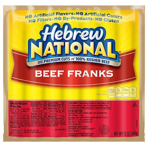 Hebrew National, Beef Franks, OZ 12