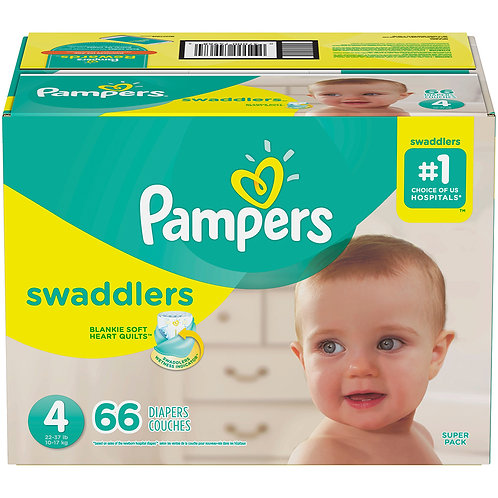 Pampers Swaddlers 4 22-37 Lb 66 Diapers