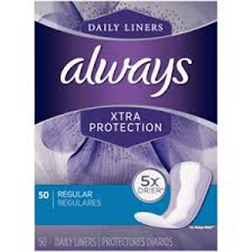 Always Daily Liners XTRA Protection Long 50ct