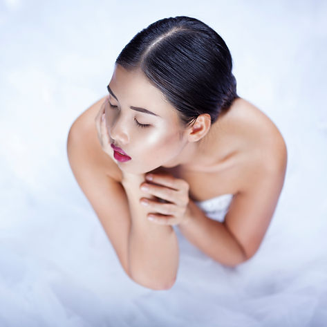 Model in White