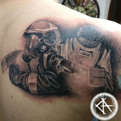 Something new _) black and grey _Loves to work like this _) #blackandgrey #blackandgreytattoo #reali