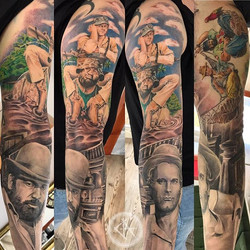 Bud Spencer and Terence Hill Sleeve finally finished_)!!!_#budspencer #terencehill #realism #realist