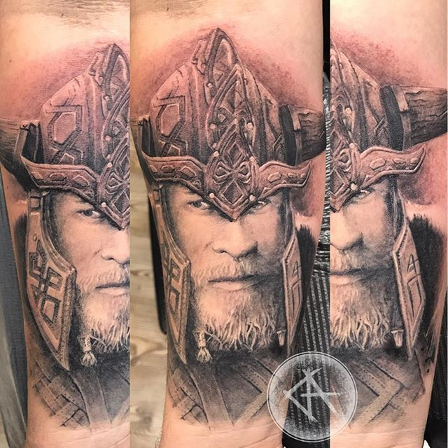 Realistic Viking _Party healed done with #carbonblack #sabretattoosupplies #kwadronneedles #stigmaro