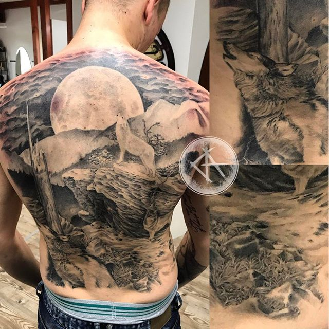 Finished few days ago an awesome back piece_)_Awesome to work with you Dominik _#backpiece #tattoo #