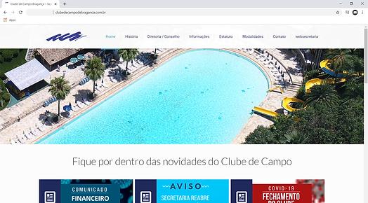 site clube de campo de bragança