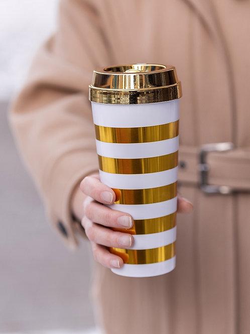 Термо стакан Petite Gold