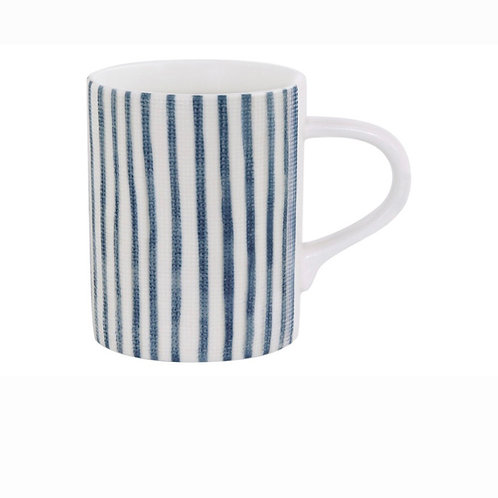 Кружка (белый с синими полосками) «Бриз» без инд.упаковки