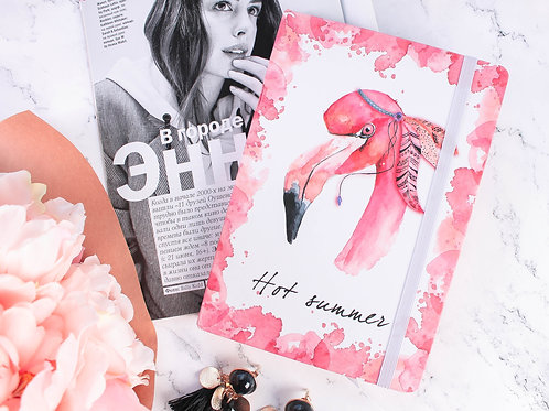 Блокнот на резинке Flamingo А6