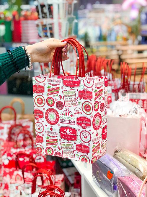Пакет новогодний подарочный Craft