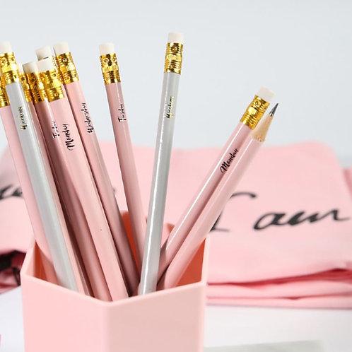 Набор из 12 простых карандашей Never