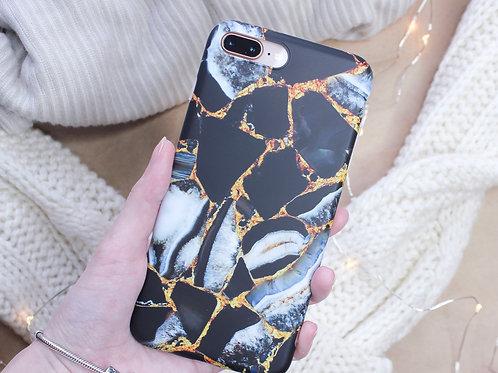 Чехол на Iphone Black Marble