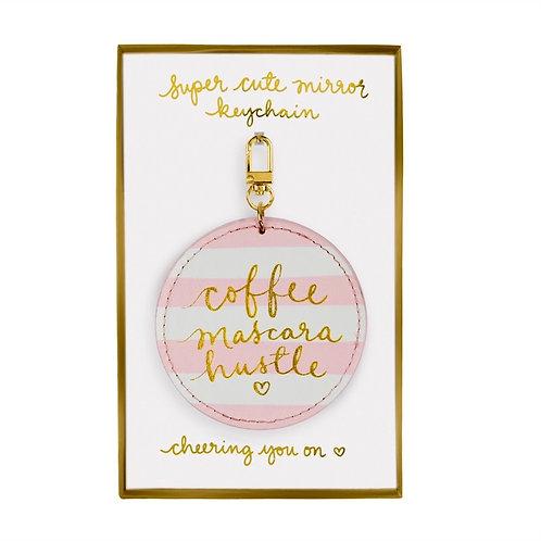 Брелок - зеркало - Coffee Mascara Hustle