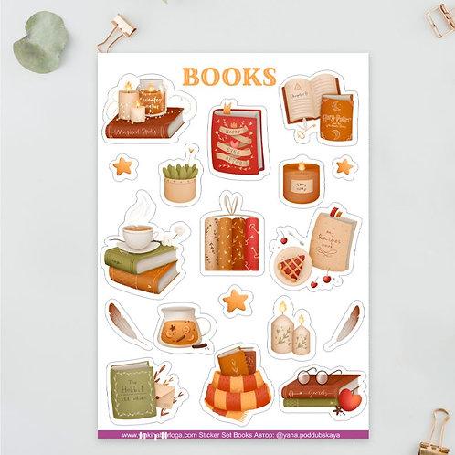 Стикеры А5 Books
