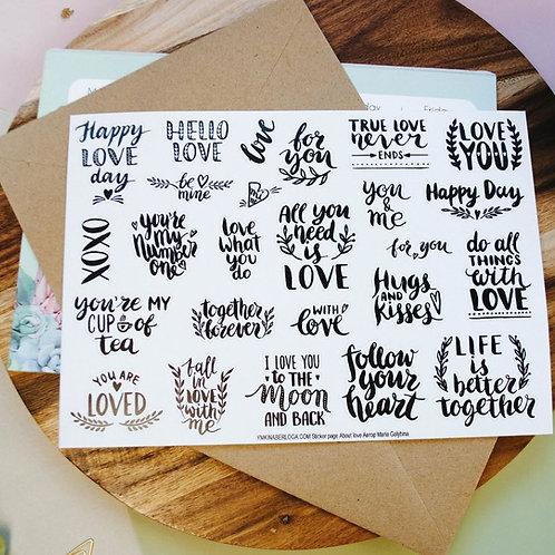 Стикеры About love А5
