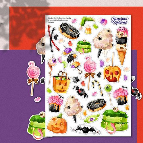 Стикеры А5 Halloween candy