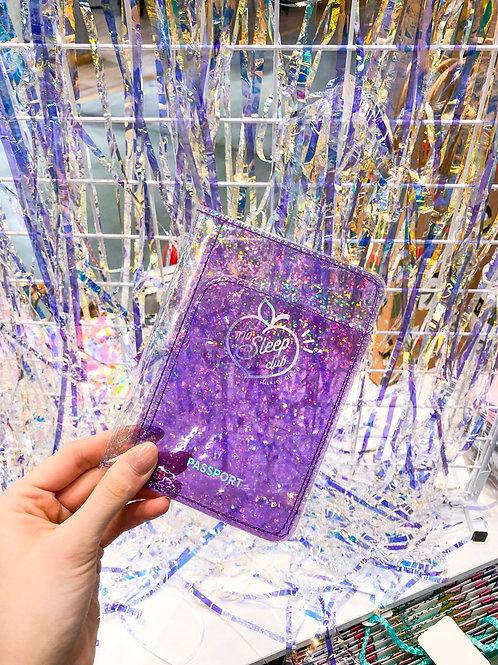 Обложка на паспорт с блестками