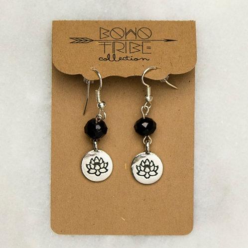 Black Lotus Earrings
