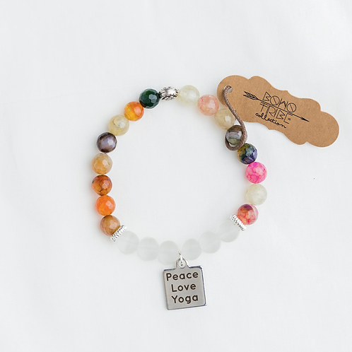 Peace, Love, Yoga Bracelet