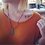 Thumbnail: Antiqued Feather Necklace