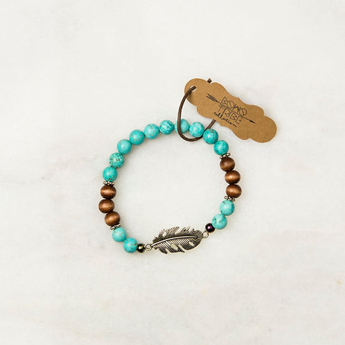 Turquoise Feather Bracelet
