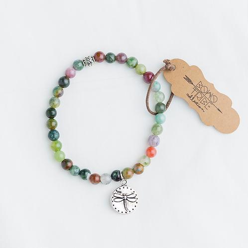 Jasper Dragonfly Bracelet