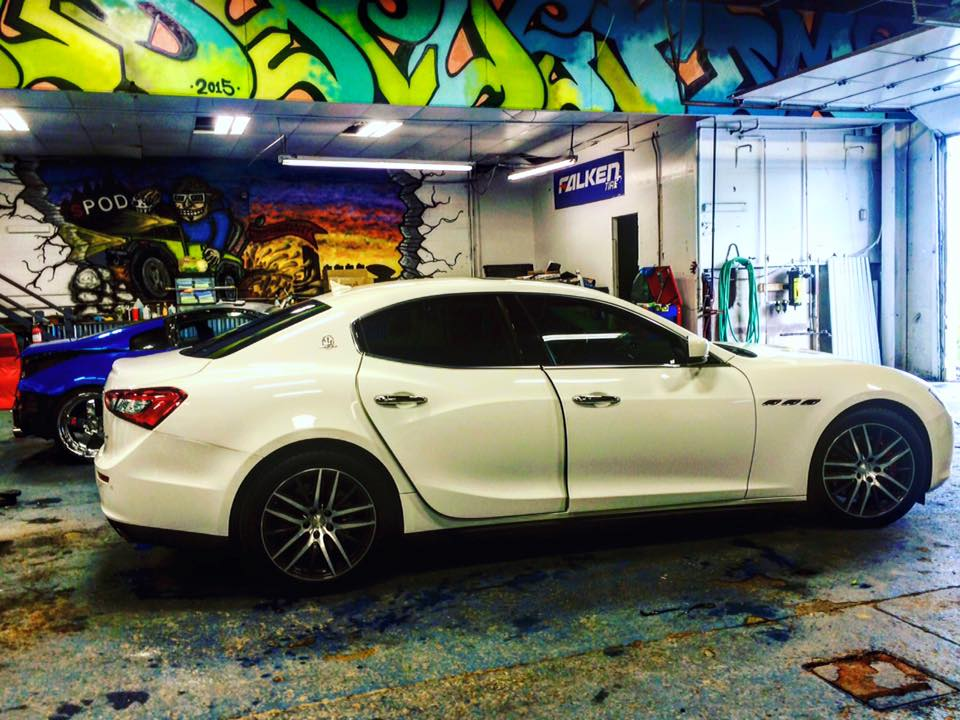 Maserati 35% window tint