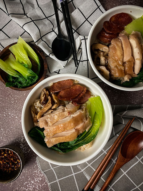 Singaporean Soy Chicken, Sausage, and Mu