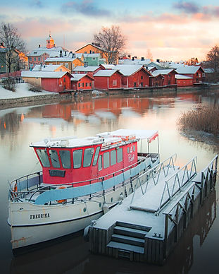 finland - White Boat on Water Near House