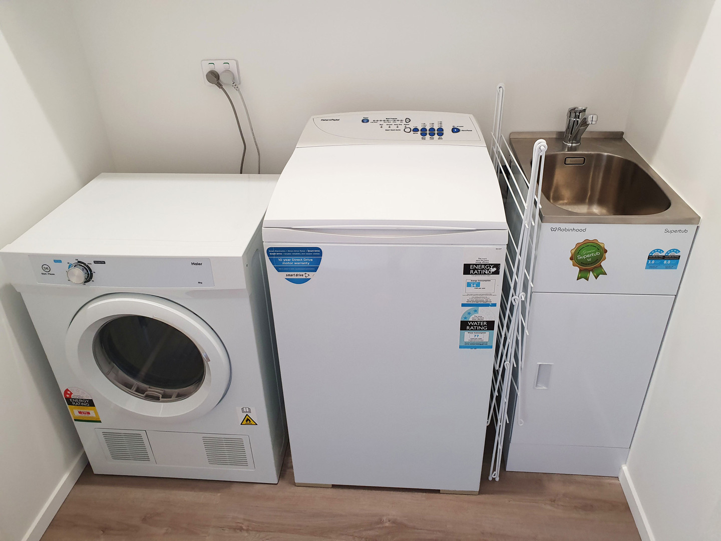 Full laundry with washer and dryer