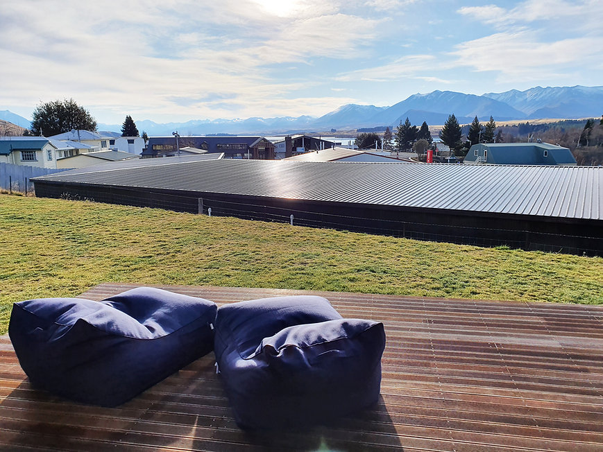 Dark Sky Villas: Waita Villa B. View from balcony of Lake and Mountains