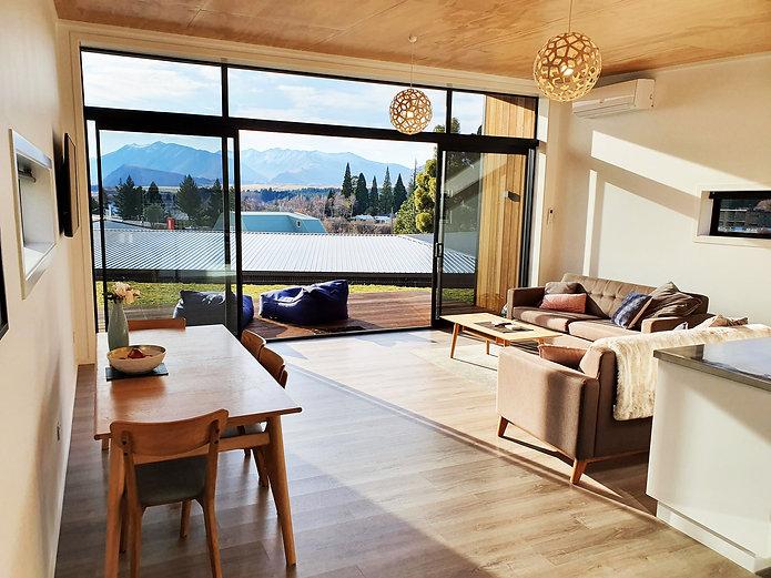 Dark Sky Villas: Waita Villa B. View from lounge of mountains.