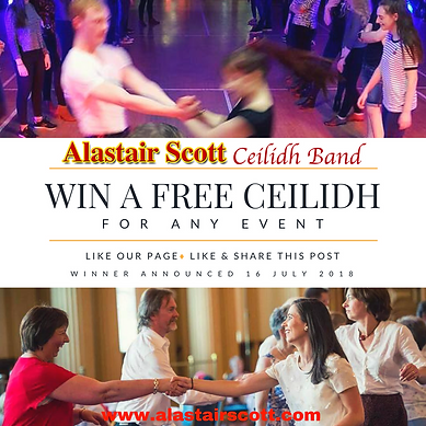 Ulster Scots Agency, Alastair Scott Competition, Facebook competition, free ceilidh, evet entertainment