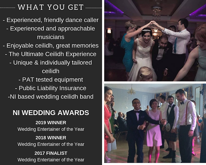 NI Wedding Band, Weddin Entertainer of the year, Wedding ceilidh, ceili, ceilidh band and dance caller, ultimate ceilidh experience
