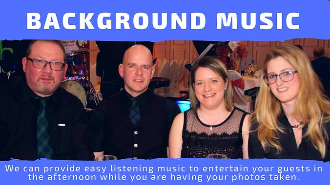 music for nursing homes, background music, wedding music, drinks reception, vintage rally, anniversary ideas