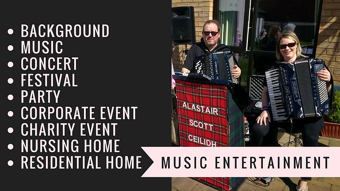 NI Event Entertainment - Ceilidh Band, nursing home entertainment, music for old people. background music