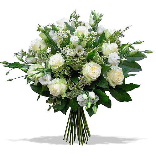 Букет из роз, лизиантуса (39 шт.)