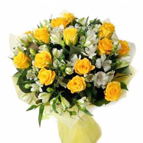 Букет из роз, альстромерии (29 шт.)