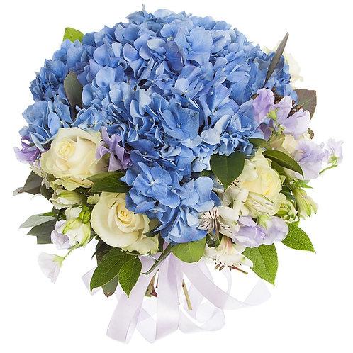 Букет из гортензии, розы, альстромерий, фрезии (31 шт.)