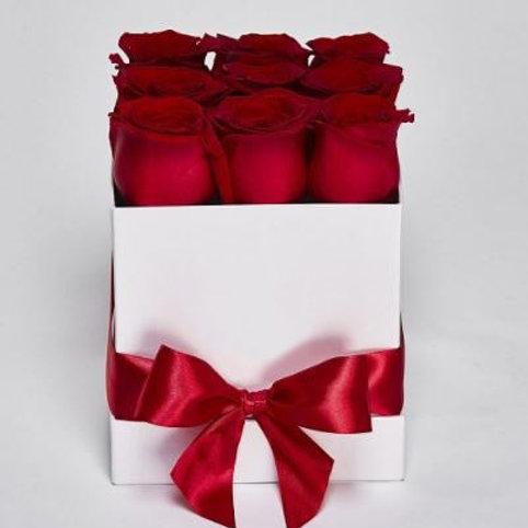 """Коробка Розы """"Freedom"""" 9 Роз"""
