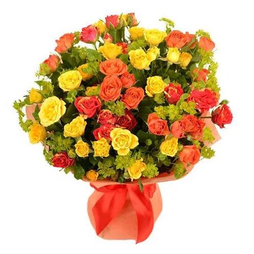 Букет из кустовых роз (19 шт.)