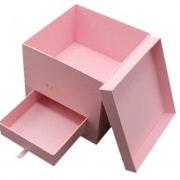 """Коробка подарочная 20,5*19 см """"Однотонная с ящичком"""""""