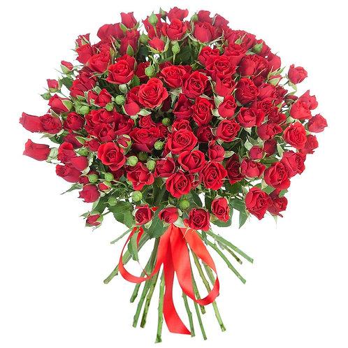 Букет из кустовой красной розы