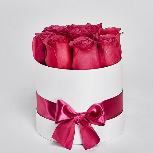 """Шляпная Коробка Розы """"Cherry O"""" 11 Роз"""