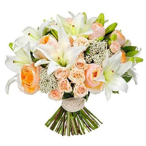 Букет из роз, лилий (39 шт.)