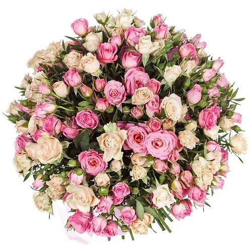 Букет из кустовых роз (39 шт.)