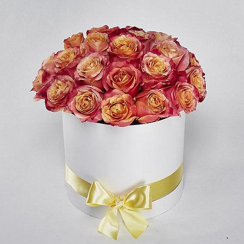 """Шляпная Коробка Розы """"3D"""" 25 Роз"""