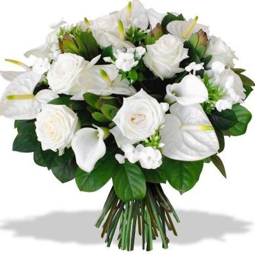 Букет из роз, калл, антуриумов (39 шт.)
