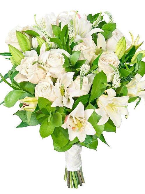 Букет из роз и лилий (19 шт.)