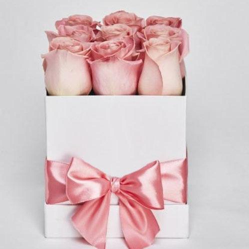Коробка  9 Розовых роз